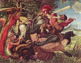 Niklaus Manuel Deutsch I - Niklaus Manuel Deutsch I, Demons Tormenting Antonius, 1520