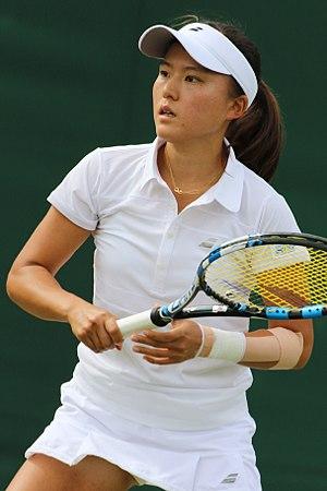 Makoto Ninomiya - Ninomiya at the 2017 Wimbledon