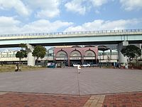 Nishi-Kyushu Expressway and West Entrance of Sasebo Station.JPG