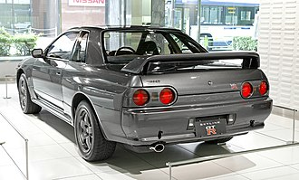 Nissan Skyline GT-R - A rear view of an R32, showing the distinctive four round taillights