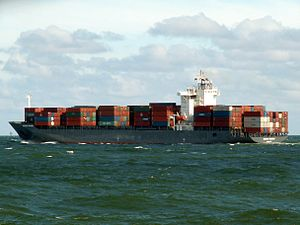 Norasia Telanon, leaving Port of Rotterdam, Holland 10-Aug-2005.jpg