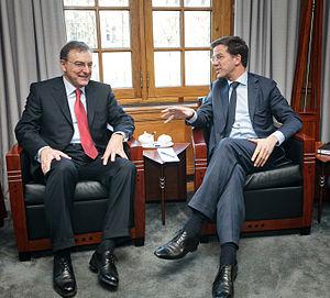 Norbert Reithofer - Reithofer (left) with Dutch Prime Minister Mark Rutte.