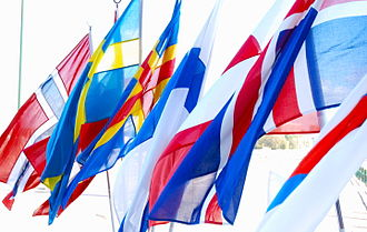 Nordic countries - Nordic flags