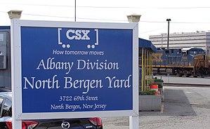 North Bergen Yard - Image: North Bergen Yard CS Xsign