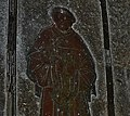 North Creake- St. Marys Church- Brass of Sir William Calthorpe holding a church (geograph 4653054).jpg