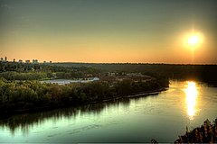 North Saskatchewan River Valley from Highlands Edmonton Alberta Canada 01A.jpg