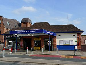 Northwood Hills tube station - Image: Northwood Hills tube station 2009
