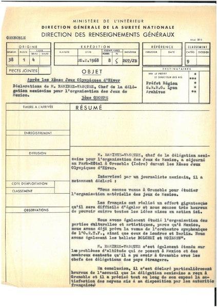 File:Note relative aux déclarations du chef de la délégation mexicaine aux Jeux de Grenoble, 20 février 1968.pdf