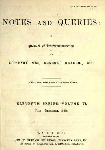 File:Notes and Queries - Series 11 - Volume 6.djvu