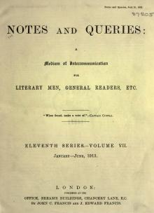 Notes and Queries - Series 11 - Volume 8.djvu