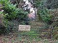 Notice on gate, Leazes Lane - geograph.org.uk - 630417.jpg