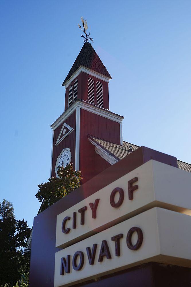 The population density of Novato in California is 716.71 people per square kilometer (1856.37 / sq mi)