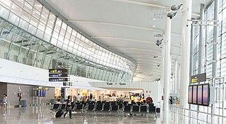 Valencia Airport - Interior of T2 at Valencia Airport