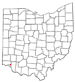 Location of Newtown, Ohio