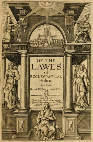 Richard Hooker - Title page of 1666 edition Of the Lawes of Ecclesiastical Politie