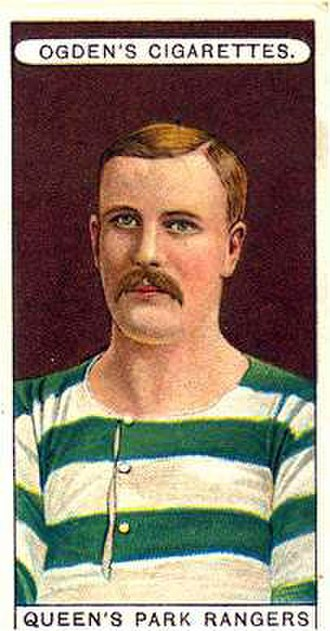 Association football trading card - Queens Park Rangers by Ogden's Cigarettes, 1906. This company was one of the first to introduce full-color cards in football