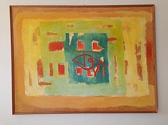 Hamidur Rahman (artist) - Image: Oil painting (c. 1980) by Hamidur Rahman