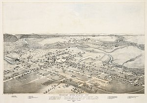 New Braunfels, Texas - Old map (1881)