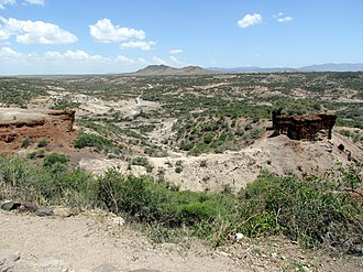 Gail Ashley - The Olduvai Gorge, where the majority of Gail Ashley's research and study took place.