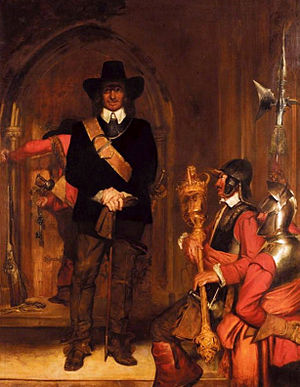 Oliver cromwell imrpisoning king charles I