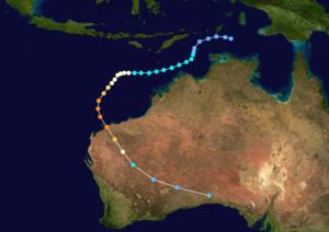 Cyclone Olivia - Image: Olivia 1996 track