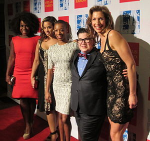 Alysia Reiner - Reiner with Orange Is the New Black cast in 2013