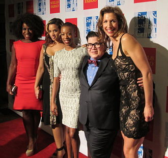 Lea DeLaria - Uzo Aduba, Dascha Polanco, Samira Wiley, Lea DeLaria and Alysia Reiner from Orange Is the New Black in 2015
