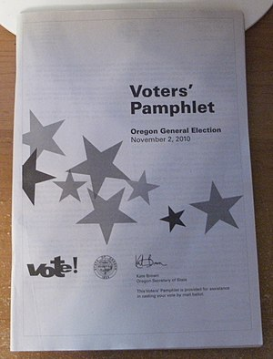 Oregon legislative election, 2010 - Voters' pamphlet for the 2010 general election