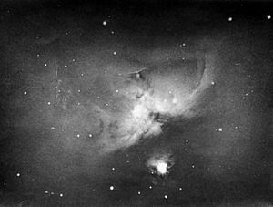 Andrew Ainslie Common - Common's photograph of the Orion Nebula, for which he won the Royal Astronomical Society's Gold Medal
