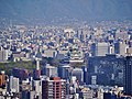 Osaka Umeda Sky Building Blick auf Osaka-jo 2.jpg