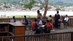 Pindaya - Outside seating at PlanBee Beekeeping Center