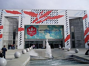 Game Developers Conference - Outside the San Jose Convention Center during GDC 2004.