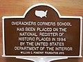 Overackers Corners School plaque.JPG