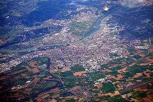 Valence, Drôme - An aerial view of Valence