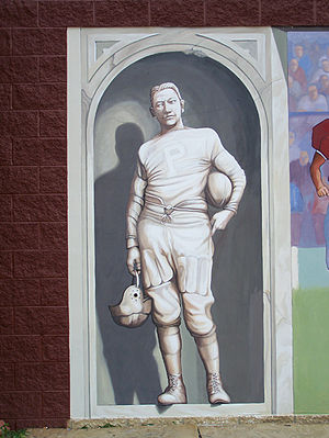 Herb Roe - Mural detail on Clark Athletic Complex