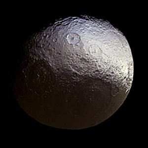 Iapetus (moon) - Natural-color image of Iapetus
