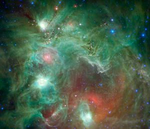 NGC 2174 - Infrared image of NGC 2174 as viewed by the Spitzer Space Telescope