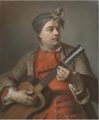 PORTRAIT OF JACQUES DUMONT LE ROMAIN PLAYING THE GUITAR.PNG