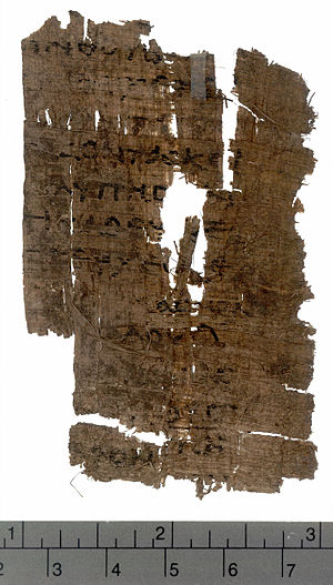 Luke 22 - Luke 22: 41,45-48 on recto side of Papyrus 69 (3rd century).
