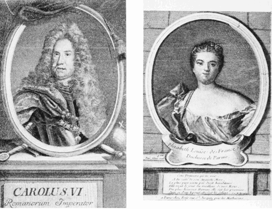 PSM V61 D464 Charles vi and elisabeth louisa of the house of habsburg.png