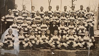 Dally Messenger - Dally (3rd row left of suited Giltinan) Pioneer Kangaroos 1908–09