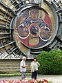 Pair of Pedestrians with Science-Themed Mosaic - Karlovo - Bulgaria (43301785381).jpg