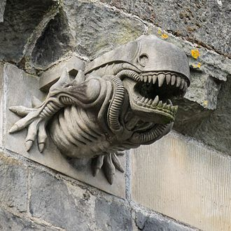Paisley Abbey - One of the abbey's 12 gargoyles, famous for its resemblance to the xenomorph creature from the film Alien. Erected in the 1990s.