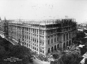 Buenos Aires Central Post Office - The building under construction, 1920.