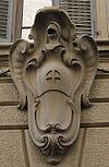 Palazzo panciatichi, retro su via ricasoli stemma2.JPG