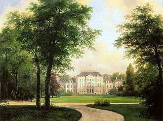 Andreas Schelfhout - The Het Loo Palace, 1838