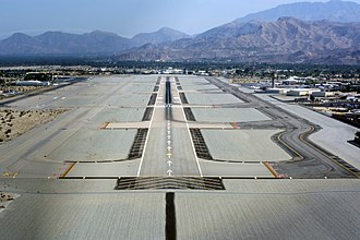 Runway - A runway at Palm Springs International Airport