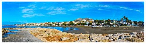 Panorama Malaga beach