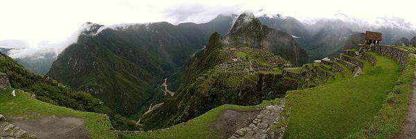 Machu Picchu panoraması.