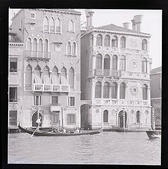 Palazzo Dario - Ca' Dario sided by Palazzo Barbaro Wolkoff (at right), photo by Paolo Monti, 1969